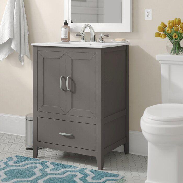 Crist 24 Single Bathroom Vanity Set Double Vanity Bathroom Bathroom Vanity Single Bathroom Vanity