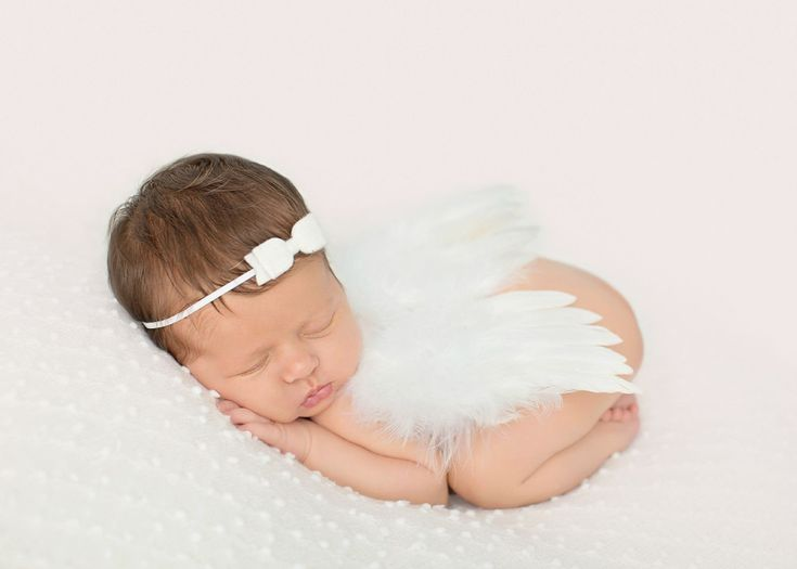 Little White Infant Feather Angel Wings Newborn Baby Photo Prop | Beautiful Photo Props