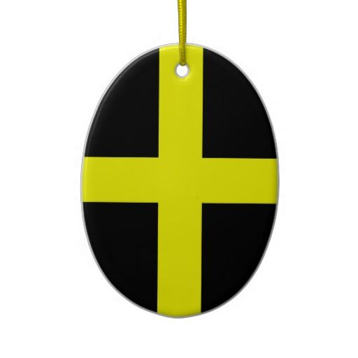 St. David's Flag Wales Welsh Christmas Ornament