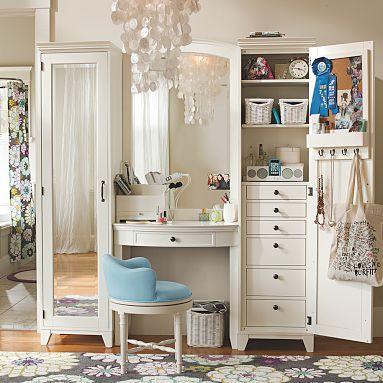 : Vanities Area, Vanities Tables, Pb Teens, Every Girls, Dresses Area, Rooms Ideas, Pottery Barns Teens, Dresses Rooms, Girls Rooms