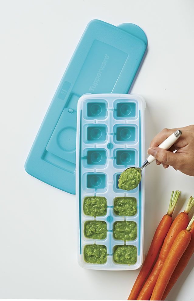 Fresh & Pure Ice Tray. Flexible bottom to easily pop cubes out of the tray! Check out our blog for more baby food recipes!