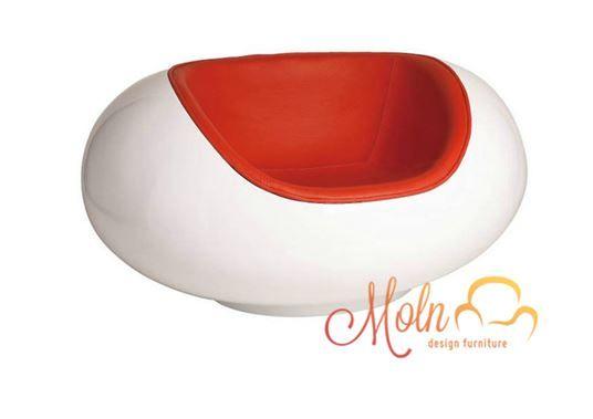 Poltrona Pastil Chair Fibra Vidro Branca Vermelha - R$ 1.190,00 no MercadoLivre