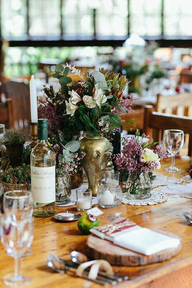 Rustic vintage table decor