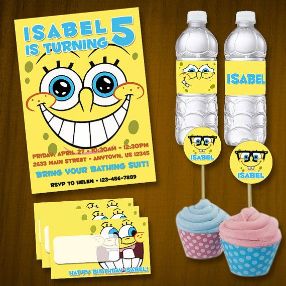 Spongebob Squarepants Birthday Party Package / by anthonypingicer, $22.50
