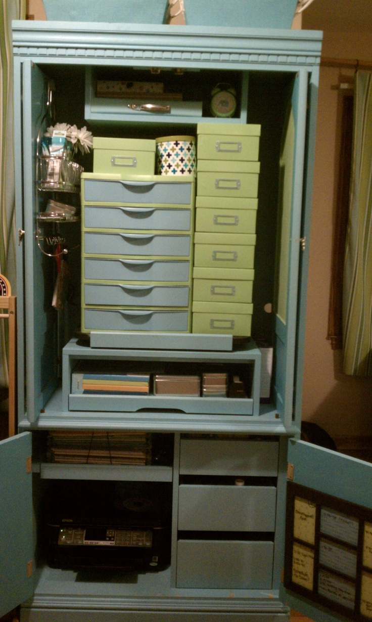 making a craft cabinet out of an old entertainment center: Old Entertainment Center, Color, White Couch, Wood Walls