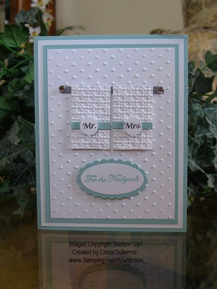 WEDDING CARD TOWELS-if I did cards:).  Anyone want to make me some? :)