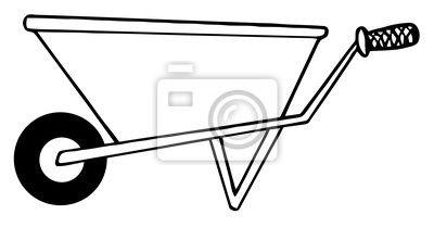 Znalezione obrazy dla zapytania taczka rysunek