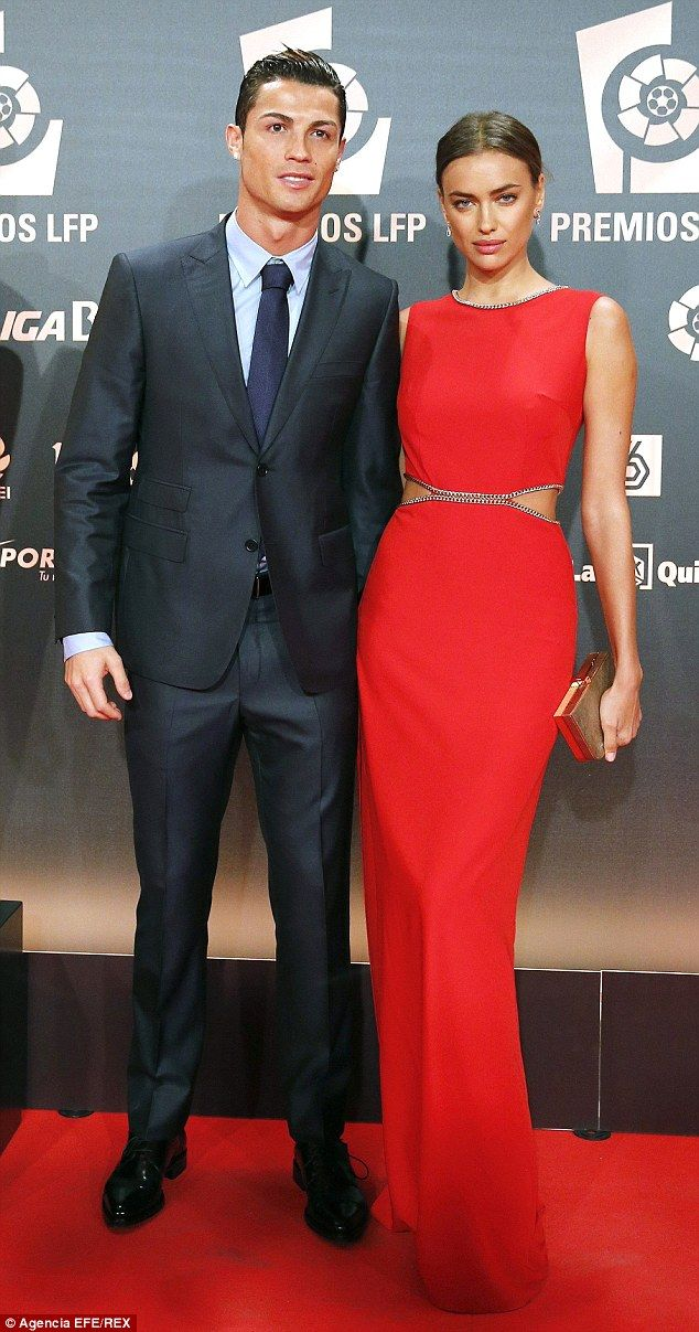 Picture perfect: Cristiano Ronaldo andIrina Shayk put on a united front at theProfessional Soccer League (LFP) Awards held at Principe Felipe auditorium in Madrid, Spain http://dailym.ai/1sAjvtm