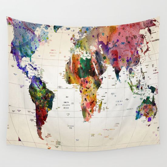 Buy map by mark ashkenazi as a high quality Wall Tapestry. Worldwide shipping available at Society6.com. Just one of millions of products available.