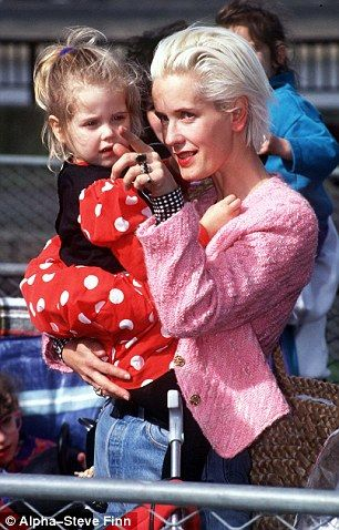 Paula Yates and Peaches Geldof. A cloud seems to hang over this family. RIP Peaches, aged just 25.