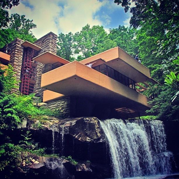 Falling Water. Frank Lloyd Write house, Pennsylvania