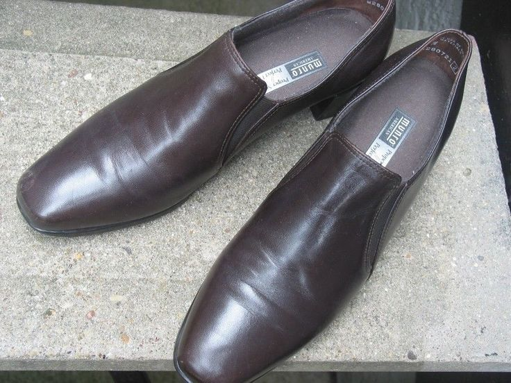 MUNRO Brown Leather Loafers Size 8.5 N #Munro #Oxfords