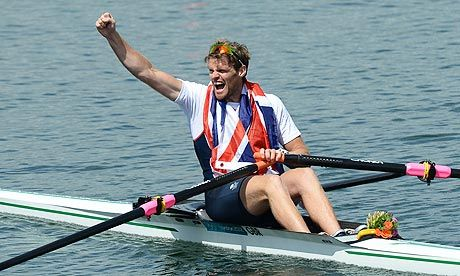 Exhausted Alan Campbell wins bronze in single sculls    • Campbell takes first British single sculls medal since 1928