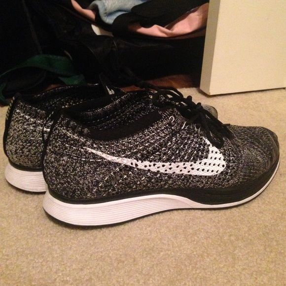 Nike Flyknit Racer Oreo 2.0 Almost brand new. Purchased from footlocker when they came out. Perfect condition. Comes with box. Seeing what I can get for them. Nike Shoes Athletic Shoes