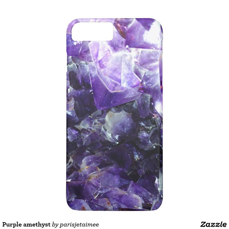 Purple amethyst iPhone 7 plus case