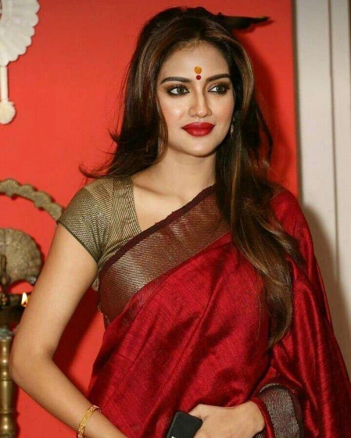 Stunning and Awesome Nusrat Jahan ❤️❤️❤️ Follow @stunning.pictures_ Follow  @stunning.pictures_ Follow @stunning.picture…   Saree look, Stylish sarees,  Saree models