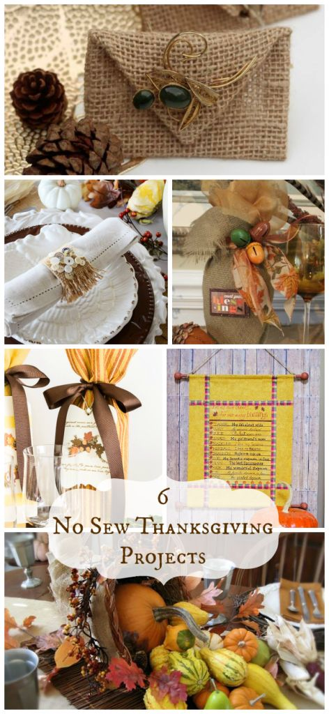 6 No Sew Thanksgiving Projects