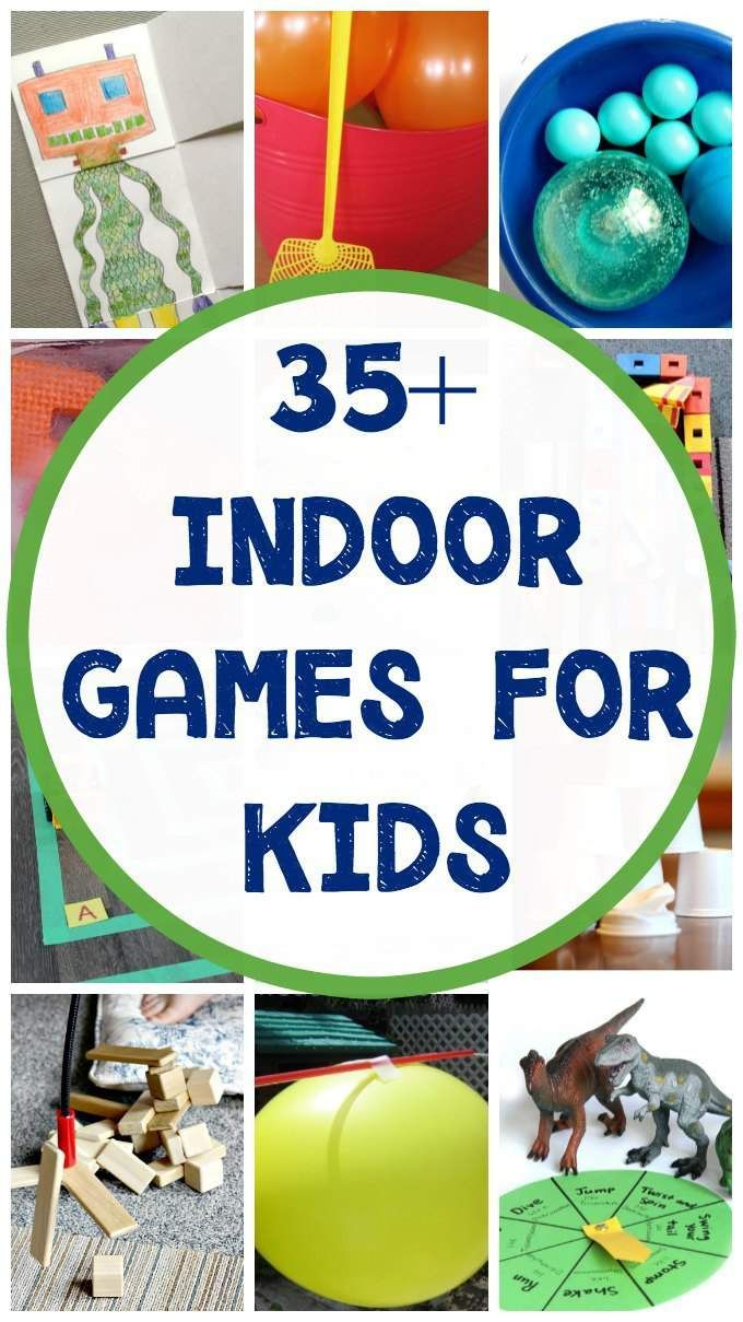 Fun indoor games for kids. Ideas and activities to keep the kids active and busy inside.