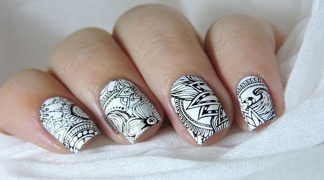 Nailstorming - En noir et blanc - Black & White nails - Bundle Monster Shangri-La BM-S105
