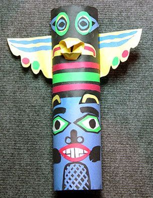 Second Grade Art Lesson 7 | Looking at Totem Poles Part 2 Completing our Totem Poles