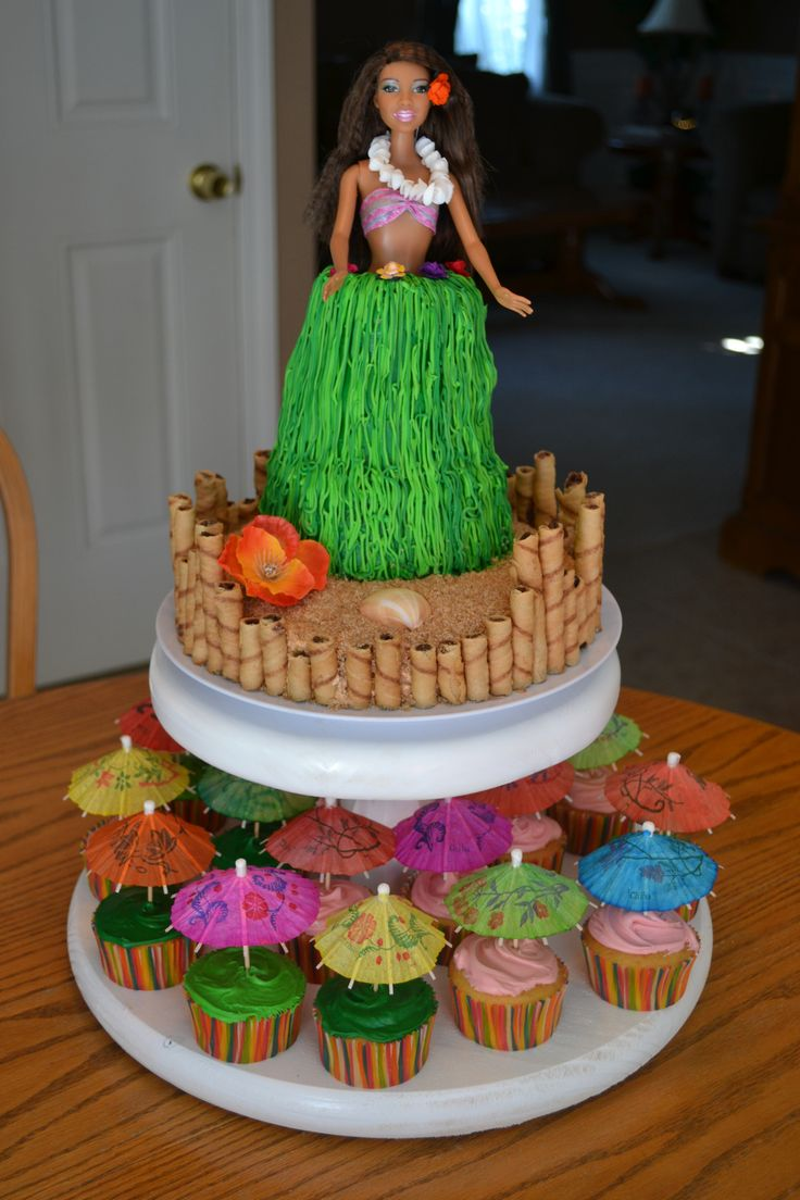 Maya's 9th birthday cake for her Luau themed party