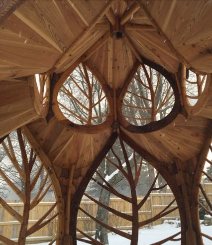 voiceofnature:Amazing structure made by Matt Parker that looks like something from Rivendell or Lothlorien.