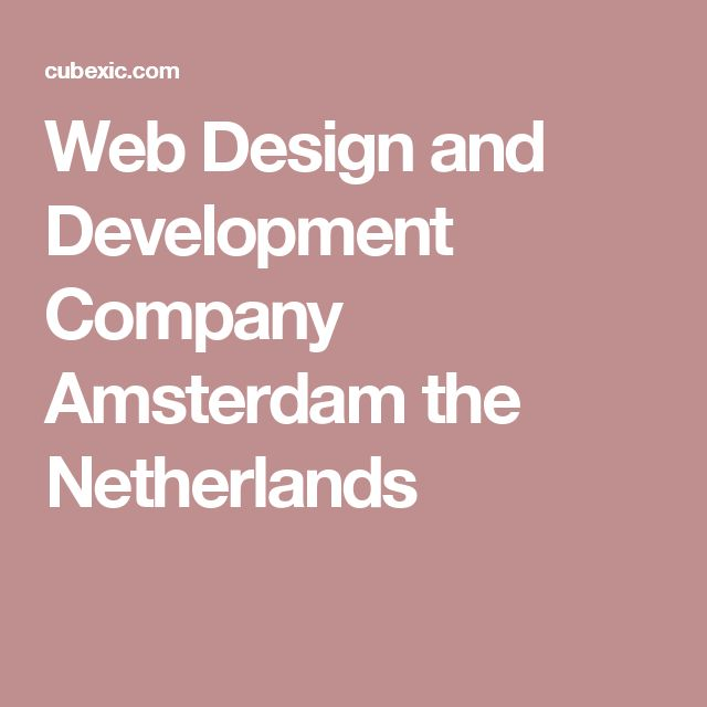 Web Design and Development Company Amsterdam the Netherlands