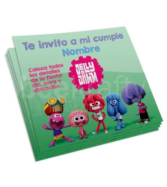 Invitaciones editables de Jelly Jam. Personalízalas con lo que quieras! #beekrafty #pasionporcrear  http://www.beekrafty.com/es/tarjetas/136-invitaciones-de-jelly-jamm.html