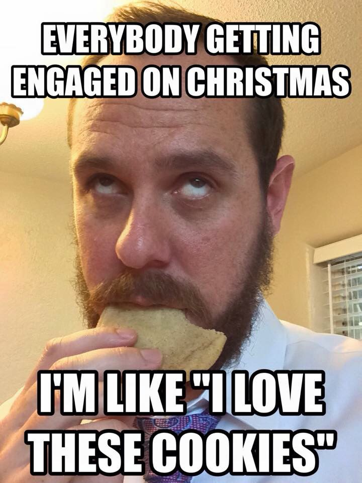 Christmas engagement meme