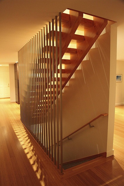 Part of the fun of stairs: all the shadows that result from great design.