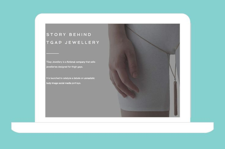 Why This Creepy Thigh Gap Jewelry Company Is Actually Body Positive via Brit + Co