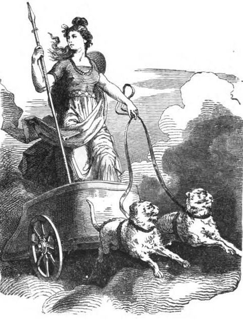 Freya and her cat-drawn chariot