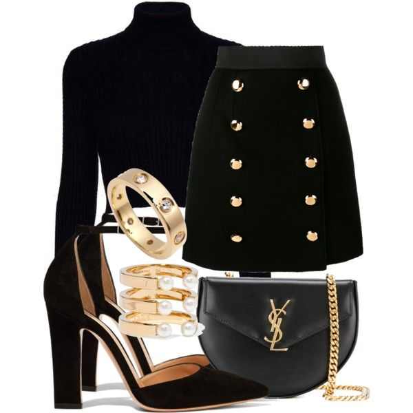 A fashion look from January 2017 featuring Jack Wills sweaters, Dolce&Gabbana mini skirts and Gianvito Rossi pumps. Browse and shop related looks.
