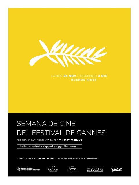 #Noviembre Comienza la Semana de Cine del Festival de Cannes   Del lunes 28 de noviembre al domingo 04 de diciembre se celebrará una nueva edición de la Semana de Cine del Festival de Cannes presentada por el INCAA y el Marche du Film/Festival de Cannes. Como cada año Thierry Fremaux Director General del Festival acompañará y presentará la muestra. Entre los momentos imperdibles de la Semana que arranca con la exhibición de la última Palma de Oro se destacan la Masterclass de la consagrada…