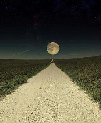 The road to the super moon, at Tallgrass Prairie Preserve. What an incredible, only in Kansas shot of the 11/14/16 super moon.  by Larry Fleury.