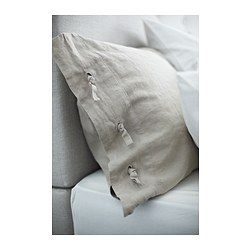 IKEA - LINBLOMMA, Duvet cover and pillowcase(s), Twin, , natural fibers in 100% linen