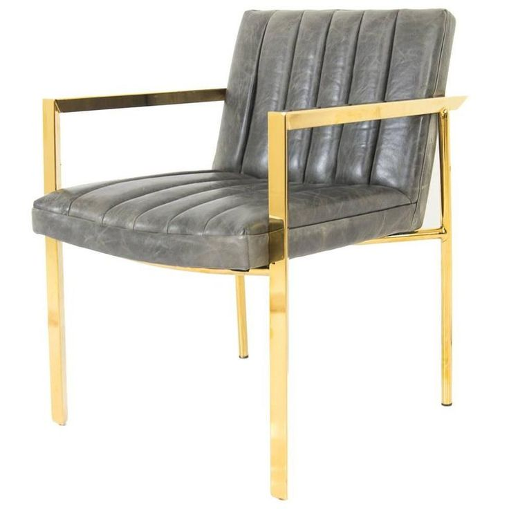 Long Arm Tufted Dining Chair in Distressed Leather | From a unique collection of antique and modern chairs at https://www.1stdibs.com/furniture/seating/chairs/