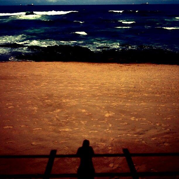 The shadows of beach side