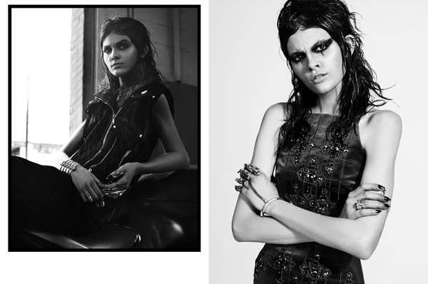 Grungy Princess Fashion - The Vogue Turkey 'Siyah Kugu' Editorial Stars a Gothic Melissa Stasiuk (GALLERY)