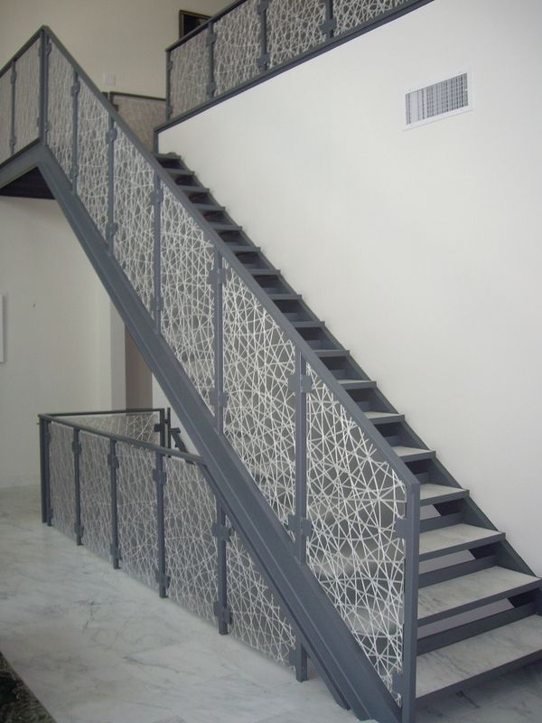 Attractive Eco Resin Stair Rail Panels By California Closets Of Las Vegas, Via Behance  (pinning Because Of The Stone Treads)