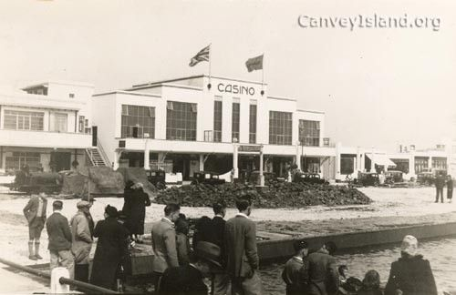 The building of the Casino Canvey Island - 1930's