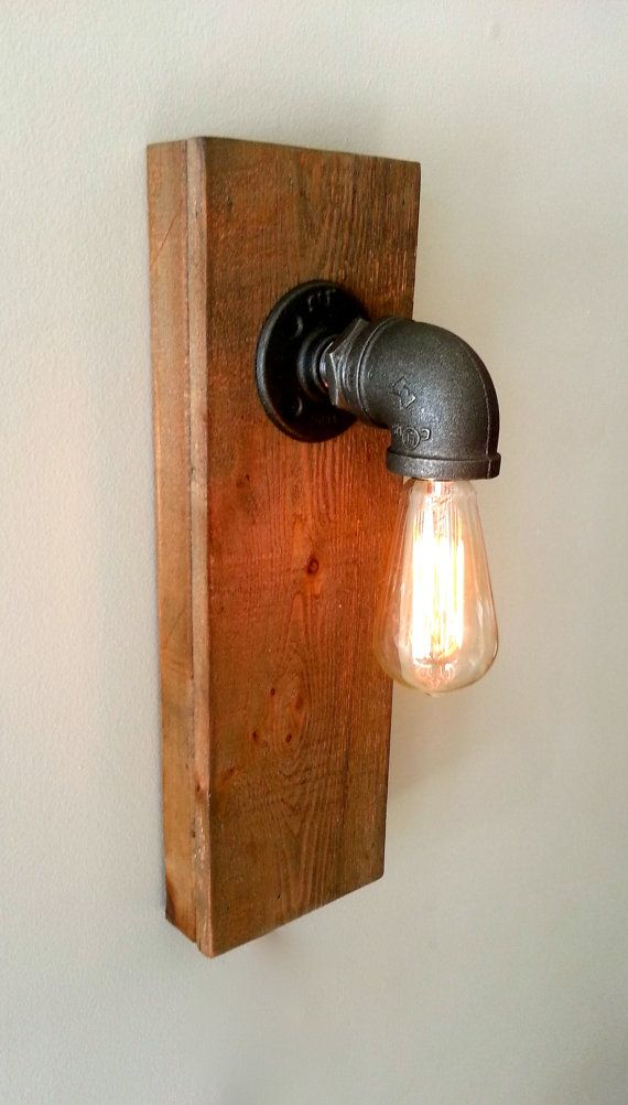 steel pipe wall sconce fixture, edison bulb fixture, black iron wall sconce