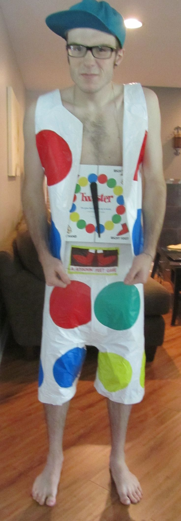 Halloween or ABC Costume for Men. Twister game into a great outfit.