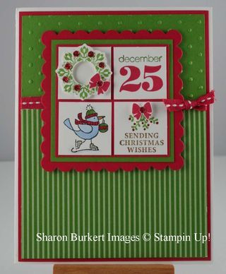 Cute Christmas Card! | Joyous Celebration 4 Square | @Wendy Felts Werley-Williams.sharonburkert.com