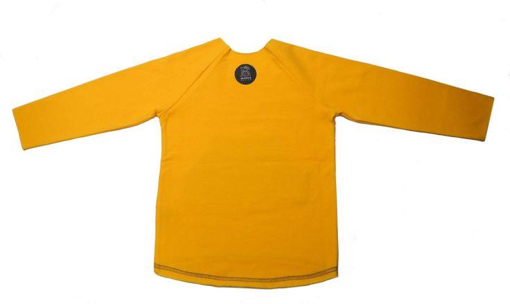 """Koszulka Małe Co Nieco. Koszulka z długim rękawem z kieszonką """"kangurką""""na dziecięce skarby w autorski nadruk w małpki. Miapka Design to rewolucja w świecie kurteczek dla Maluszków. Marka stworzona z myślą o najmłodszych, których wygoda jest dla mam bardzo ważna.  koszulki z długim rękawem, chłopcy, dziewczynki"""