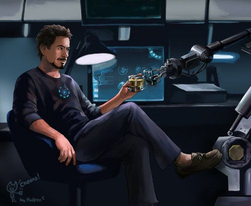 AWWWWWWW.  See, Tony's not a total loner. <3 This is fucking adorable and I love it. -- Cheers by *Hallpen