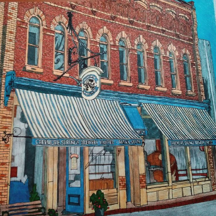 Creemore Ontario Kanada Stevemcdonald Fantasticcities Artwork Coloring BooksAdult