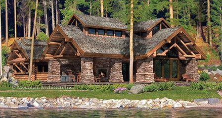 9 best images about log home companies on pinterest for Home plans washington state
