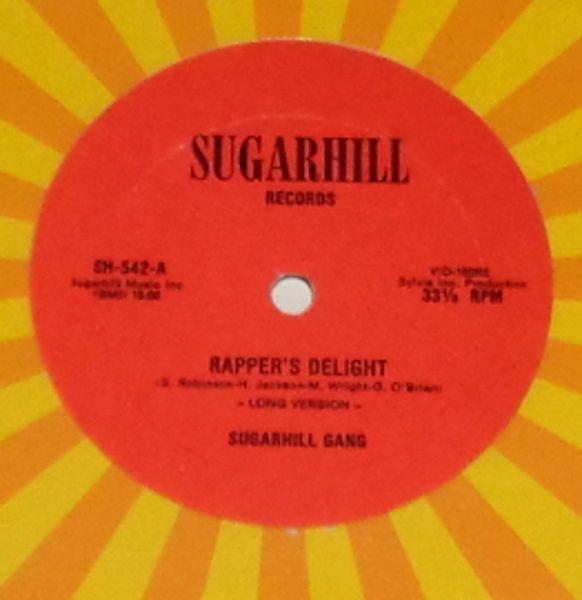 "Vintage 1979 Rapper's Delight Sugar Hill Gang, RED LABEL 1st press, 12"" record"