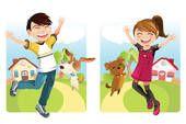 קליפ ארט - ילדים, עם, כלב k8577488 - חיפוש קליפארט, איורים, פוסטרים, ציורים ותמונות גרפיות וקטור EPS. - k8577488.eps
